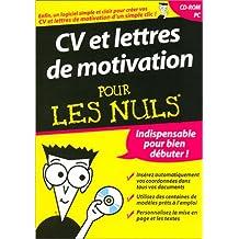Cv & lettres de motivation pour les nuls