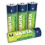 Varta Endless Energy Akku (bis zu 2100 Ladezyklen, geringe Selbstentladung, Ready2Use vorgeladene AA Mignon Ni-MH Accu, 4er Pack 1900mAh, wiederaufladbar ohne Memory-Effekt - sofort einsatzbereit)