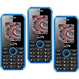 Combo Of Three Mobiles Of W8 Blue+W8 Blue+W8 Blue, 1.8 Inch, Dual Sim Mobile Phone With 950 MAh Battery, Wireless FM, Bluetooth, Digital Camera, Call Recording, MP4, Internet & 1 Year Warranty …