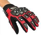 yihengya Yihya Ein Paar Volle Finger-Handschuhe Fäustlinge Motorrad-Motorrad Moto-Cross Dreckiges Fahrrad Atmungsaktiv Handschuhe für Sport im Freien Racing Radfahren - red - L