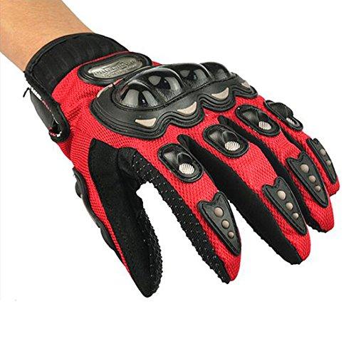 Yihengya yihya carbon fiber full finger guanto protettivo protezione guanti moto motociclo motocross scooter offroad biciclette gloves uomo e donna taglia l/red