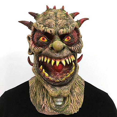 Demon Kostüm Batman - LYzpf Halloween Maske Monster Demon Grusel Gruselmaske Latex Full Face Requisiten Kopfbedeckung Für Erwachsene Cosplay,Brown