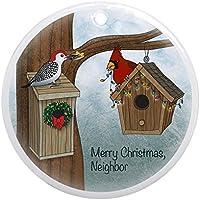 CafePress–Neighbor Merry Christmas Ornament (rotondo)–Vacanza decorazione