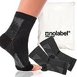 Fersensporn Bandage - No Label Fußbandage - Schmerzlinderung bei Plantarfasziitis, Knöchelschmerzen und Schwellungen - Premium Kompressionssocken für Männer & Frauen |