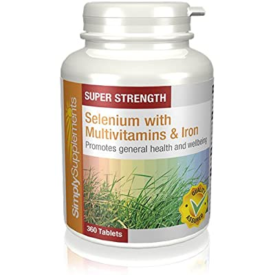 SimplySupplements Selenium 220mcg with Multivitamins & Iron|360 Tablets in total from Simply Supplements