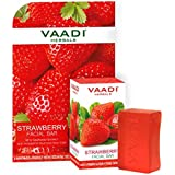 Vaadi Herbals Strawberry Facial Bar with Grapeseed Extract, 25g