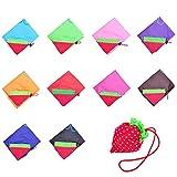 Luwu-Store Bolsa de Mano Plegable Eco, para la Compra Reutilizable, diseño de Fresa, Color al Azar