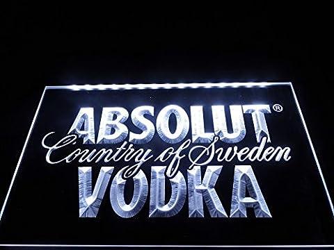 Absolut Vodka LED Zeichen Werbung Neonschild Weiß (Werbung Absolut Vodka)