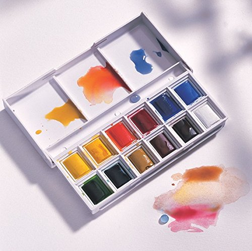 Watercolour Cotman Aquarell Watercolor halbe Näpfchen Godets Sketchers - 12