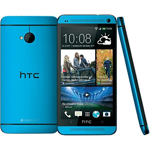 HTC One M7 32GB Smartphone vivid blue (blau) wie NEU OVP (11,93 cm (4.7 Zoll), Super LCD3 Touchscreen, 2GB RAM, Beats Audio) Handy Htc Audio