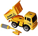 #1: Toys Bhoomi 2-in-1 Friction Powered Take-A-Part Construction Vehicle Dump Truck Playset