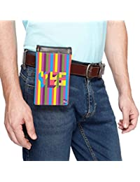 Nutcase Designer Travel Waist Mobile Pouch Bag For Men, Fanny Pack With Belt Loop & Neck Strap-High Quality PU... - B075TXQ7LX