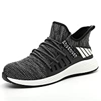 Mens Womens Lightweight Safety Shoes Steel Toe Cap Lightweight Breathable Work Sneaker Work Shoes For Men (Color : 591Grey, Size : 44)