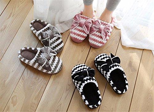 Ymfie Mesdames Pantoufles En Automne Et En Hiver De Belles Pantoufles En Coton Et Chaussures D