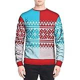 KPILP Pullover Männer Sweatshirts Weihnachten Drucken Tops Langärmelige Casual Allgleiches Oberteile T-Shirt Bluse Herbst Winter