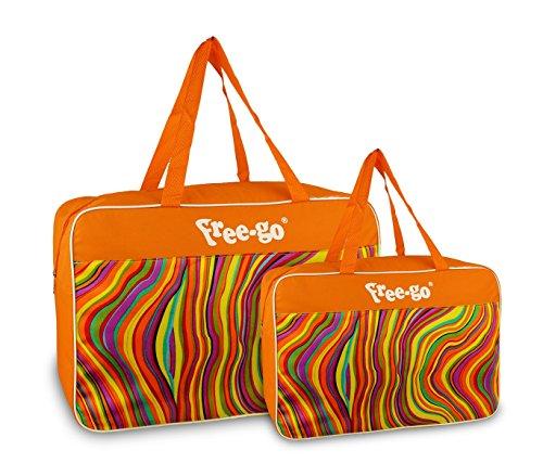 Media wave store doppia borsa termica free-go 375815 modello summer wave doppio manico (arancione)