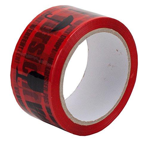 0,02396464 €/Meter Anjasinternethandel 6 Rollen Klebeband Vorsicht Glas Paketband Rot Warnhinweis