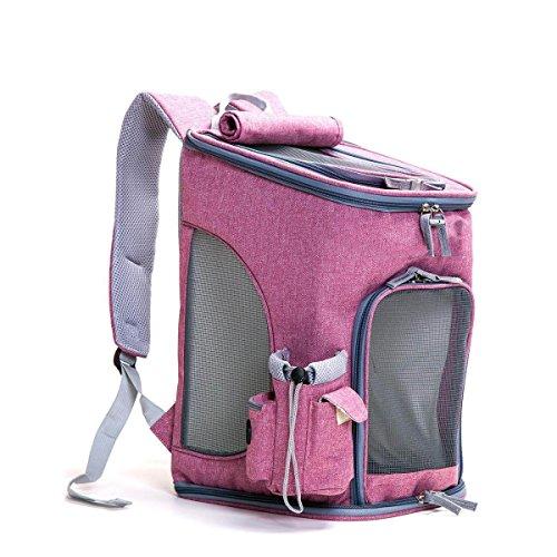 LQQAZY Katze Hund Portable Rucksack Keine Verformung Pet Out Rucksack Rucksack Katze Pack Teddy Bag Pet Reisetasche Liefert,C
