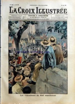 CROIX ILLUSTREE (LA) [No 335] du 26/05/1907 - LES VITICULTEURS DU MIDI MANIFESTENT - AU PALAIS ROYAL DE MADRID - LA RELEVE DE LA GARDE par Collectif