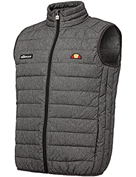Ellesse Crag acolchado cremallera chaqueta de negro, gris, XS