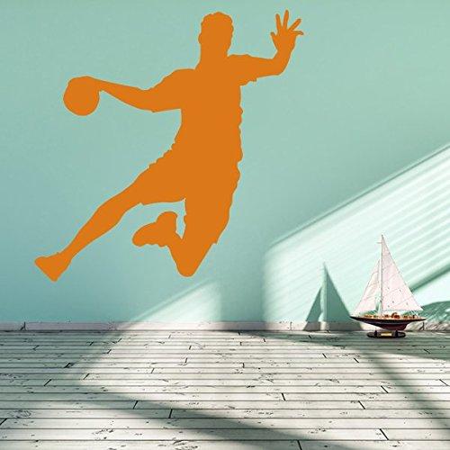 denoda Handballer - Wandtattoo Lichtblau 75 x 76 cm (Wandsticker Wanddekoration Wohndeko Wohnzimmer Kinderzimmer Schlafzimmer Wand Aufkleber)