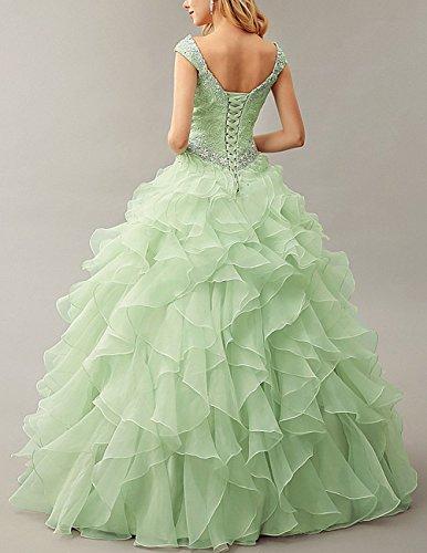 ... Dresstells Damen Bodenlang Organza Hochzeitskleid Glitzer V-Ausschnitt  Ärmellose Abschlussballkleider Schwarz ...