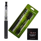 Salcar® Kit de iniciación de Cigarrillo Electrónico eGo-T CE4, Vaporizador de 1,6ml, batería recargable de 1100mAh, 0,00 mg Nicotina (Negro)