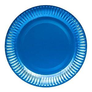 Neu 2019: Platos Desechables (23 cm, 8 Unidades), Color Azul metálico