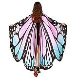IGEMY Mujeres alas de Mariposa Chal Bufandas señoras NINFA Pixie Poncho Disfraz Accesorio, Rosa, 168 * 135CM