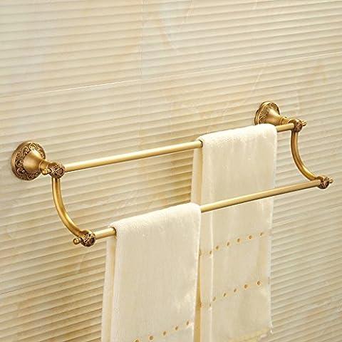 Barra di tovagliolo bipolare Tutti bronzo allungato asciugamano appeso a barra europea del pendente bagno Scaffalature Bagno portasciugamani