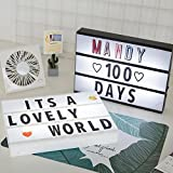 LED-Briefkasten-Schild Lightbox Message Board Startseite Nachtlampe Tischdekoration Beleuchtung Veranda Light Up Sign Box Lightbox Message Board Kino LED-Brief Symbol Home Party Hochzeit,White