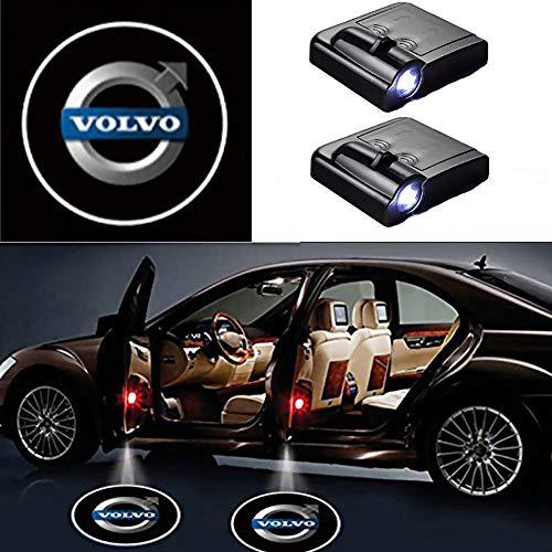 2 Stück Autotür Logo Projektion Licht Türbeleuchtung Willkommen Licht Unterboden beleuchtung (für VOLVO)
