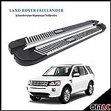 Schwellerrohre ALU Trittbretter für Land Rover Freelander 2 Pyramid 173