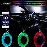 Wawer Wasserdichte RGB-Licht-LED-Auto-Innenneonstreifen-Licht-Ton-aktive Bluetooth-Telefon-Steuerung Telefon-APP-Steuerung [Fit IOS und Android] Betriebstemperatur 20 ° C bis 60 ° C