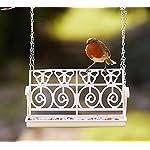 Garden mile® White French Shabby Chic Garden Bench Swing Seat Bird Feeder Garden Decoration Bird Table Seed Nut Suet… 6