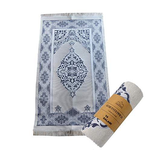 Muslimische Gebetsteppich für Männer | Namaz-lik Seccade, Gebets Matte | Salah Sejadah, islamic prayer mat rug, für das Gebet im Islam- Qualitativ verpackt, perfekt als Geschenk 1,20x0,7m - Islam-teppich