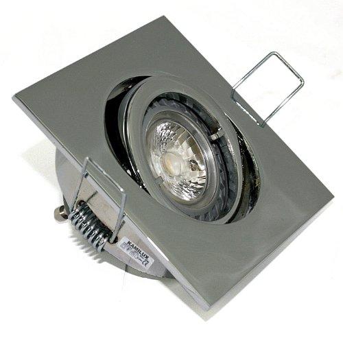 Feuchtraum resistente Bad Einbauleuchte Easy+ & LED Leuchtmittel 5W DIMMBAR (Chrom / Kaltweiss)