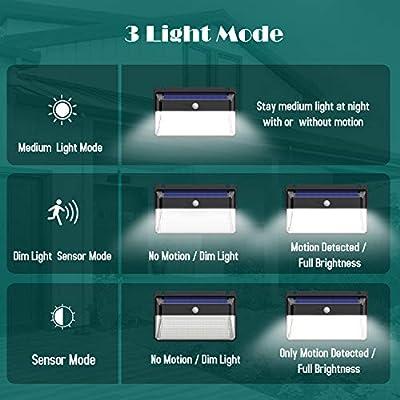 Solarlampen für Außen,[Neue Energiespar Version] Kilponen 108 LED Solarleuchte Außen mit Bewegungsmelder [2200mAh] IP65 Solar Beleuchtung 270°Superhelle Solarlicht 3 Modi Solarleuchten Garten von Kilponen