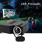 HermosaUKnight Mini proiettore LED Portatile UC28B 1080P Multimedia Famiglia Cinema Home Theater USB Ingresso Scheda TF Mini Beamer per PC Laptop-Nero