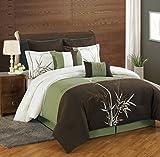 Best KingLinen Queen Bedding Sets - 8 Piece Queen Bamboo Embroidered Comforter Set Review