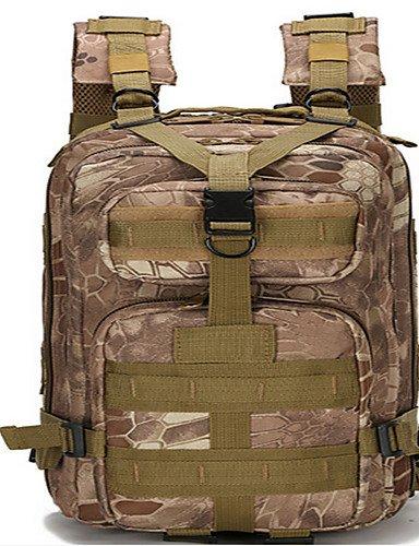 HWB/ 50L L Tourenrucksäcke/Rucksack Camping & Wandern / Klettern Draußen / Leistung Feuchtigkeitsundurchlässig / tragbar / MultifunktionsGrau camouflage brown
