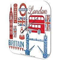 Reloj De Pared Deco Ciudad Londres Inglaterra Plexiglas Impreso