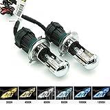 1 paire de lampes de remplacement Heinmo pour phares Bi Xenon 35W H4 12V AC HID automotives 4300K/6000K/8000K