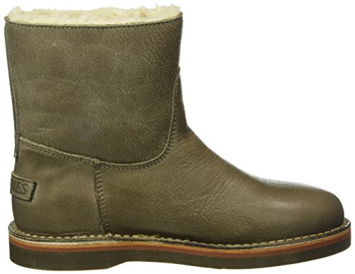Shabbies Amsterdam Shabbies Ladies Short Boot 16cm With Real Wool Lining Alissa Matching Sole, Bottes Classiques femme Marron - Marron (taupe)