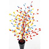 Joyful Home Creations- Home Decor Multi Colored 25 Inches Long Artificial Acrylic Flowers For Festive Decor, Home Improvement Wedding Decorations & Christmas Decoration In Set Of 3 PCs.