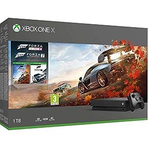 Microsoft Xbox One X, schwarz – Forza Horizon 4 und Forza Motorsport 7 Bundle