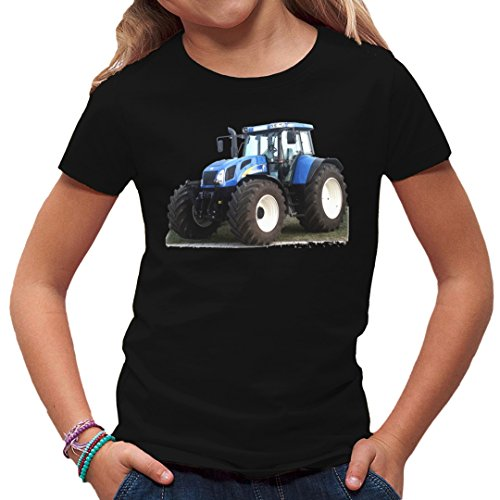 Traktoren Kinder T-Shirt - Traktor New Holland T7 by Im-Shirt - Schwarz Kinder 7-8 Jahre