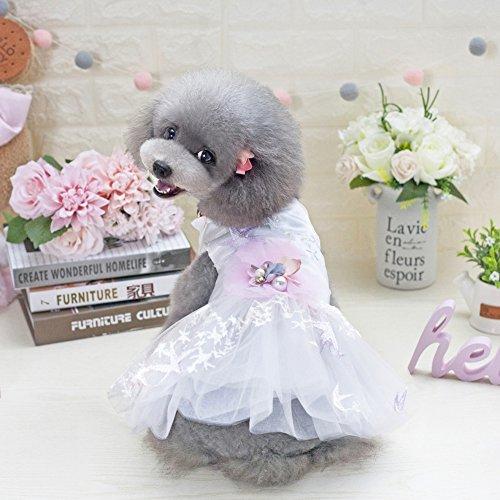 etopfashion Hund Katze Kleid Welpen Prinzessin Stil Blume Netz Tüll Tutu Kleider Ballettmusik Hochzeit Rock PET Frühling Sommer Kleidung Kleidung Kostüm