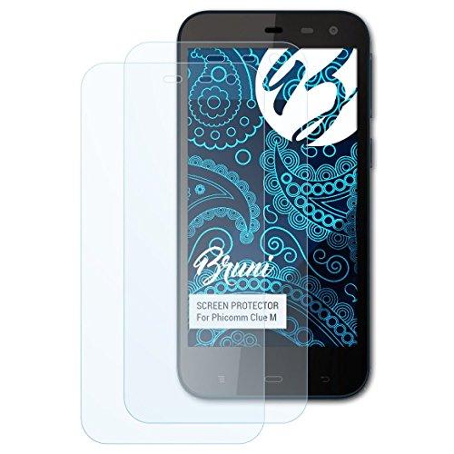 Bruni Schutzfolie kompatibel mit Phicomm Clue M Folie, glasklare Bildschirmschutzfolie (2X)