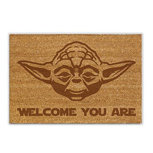 NERDO - Welcome You Are - Kokosfaser-Fußmatte/Fußabtreter/Schmutzfänger/Abstreifer/Vorleger als...
